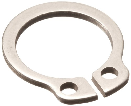 Retaining Ring Specifications - Standard External Retaining Ring, Tapered Section, Axial Assembly, DIN 1.4122 Stainless Steel, Passivated Finish, Meets DIN 471 Specifications, 17mm Shaft Diameter, 1mm Thick, Made in US (Pack of 5)