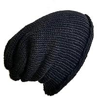 Lightweight Men s Handmade Solid Black Alpaca Silk Slouchy Beanie Hat fe1b9f2f6980