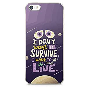 Loud Universe Wall E Quote iPhone 5 / 5s Case Global Warming Quote iPhone 5 / 5s Cover with Transparent Edges