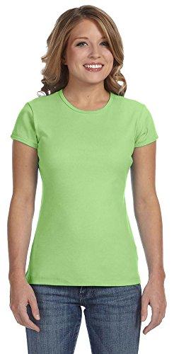 (Bella 1001 Ladies Baby Rib Short-Sleeve T-Shirt - Lime Wedge 1001 L)