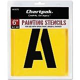 Chartpak Painting Stencil Set A-Z Set/0-9 Manila 35/Set