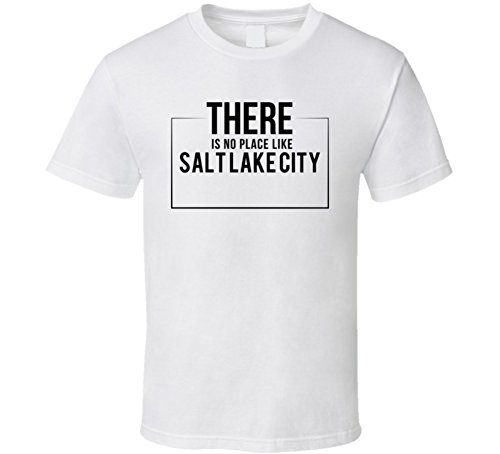 Jokertshirt There is No Place Like Salt Lake City T Shirt L - Lake Fashion City Place Salt