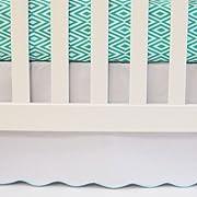 Flat Panel Scallop Crib Skirt Color: Sea