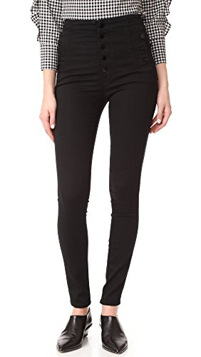 J Brand Jeans Women's Natasha Sky High Rise Skinny, Seriously Black, 27 by J Brand Jeans (Image #1)