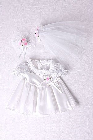 """Bride Outfit Teddy Bear Clothes Fit 14"""" - 18"""" Build-a-bea..."""