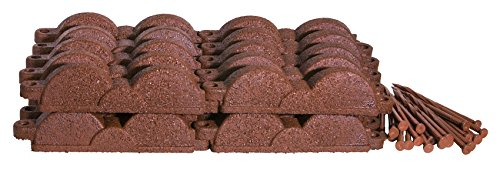 Valley View Industries 20 ft., 12 in. Pieces Cedar Red Rubber Edging