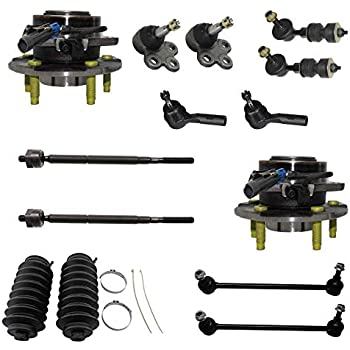 06 Pontiac Torrent Tie Rods and Sway Bars for 05-06 Chevy Equinox - Lower Control Arms w//Ball Joints - 02-07 Saturn Vue Detroit Axle 8PC Front Complete Quick Install Ready Strut Assembly