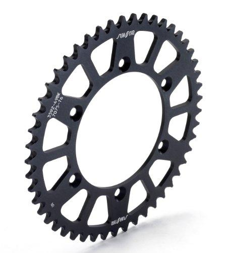 Sunstar 5-361949BK Works Triplestar Black 49-Teeth 520 Chain Size Rear Aluminum Sprocket ()
