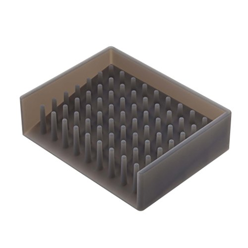 YAMAZAKI home 2995 Float Self Draining Soap Tray, Black by YAMAZAKI home