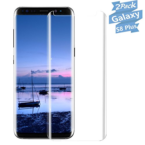 [2-Pack] Galaxy S8 Plus,hairbowsales Tempered Glass Screen Protector [No Bubbles][Easy to Install][Anti Fingerprint] 3D Curved Screen Protector Compatible Samsung Galaxy S8 Plus