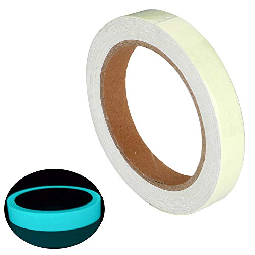 - ARTGEAR Glow in The Dark Self-Adhesive Tape, Blue Light Luminous Tape Sticker, 32.8 ft x 0.4 inch (10m×1cm): Waterproof, Removable, Durable, Wearable, Stable, Safety