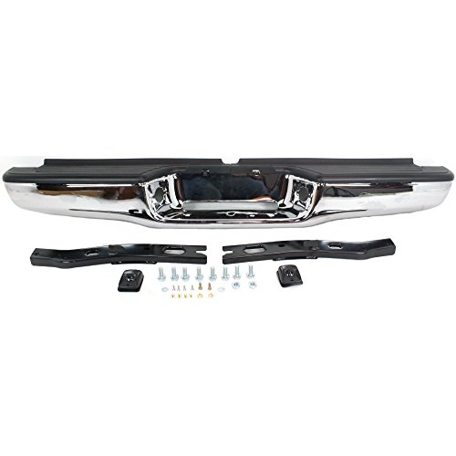 Rear Step Bumper for Toyota Tacoma 95-04 Assembly Chrome Steel with Brackets Fleetside