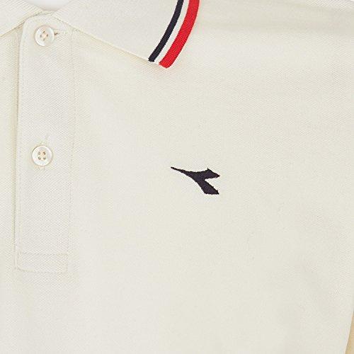 Diadora Sport 102161300 Pq Ls Polo para hombre Bianco Stellare