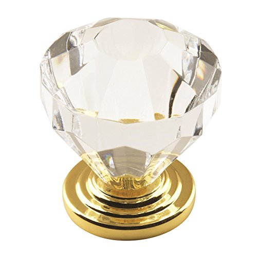 Amerock BP14303CBB Traditional Classics Knob with Acrylic Base, Crystal, 1.25-Inch Diameter Amerock Traditional Classics Crystal