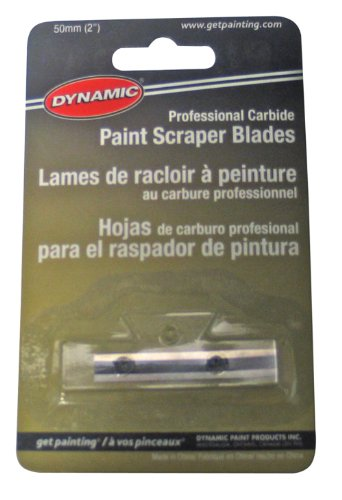 Dynamic FA014116 Professional Carbide Paint Scraper Replacement Blade, 2-Inch by Dynamic