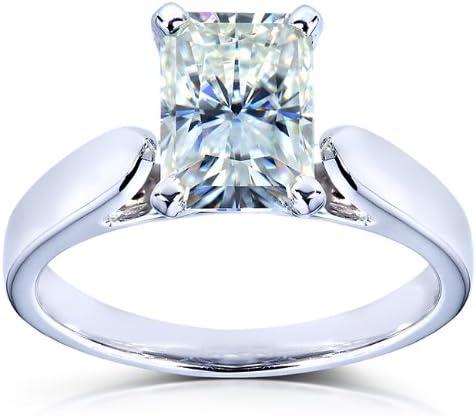 Kobelli Radiant-cut Moissanite Solitaire Engagement Ring 1 1/5 CTW 14k White Gold