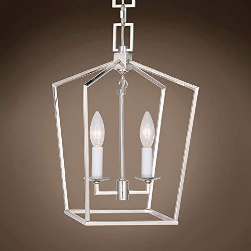 (Transitional 19Th C. English Openwork Lantern 2 Light 9.5
