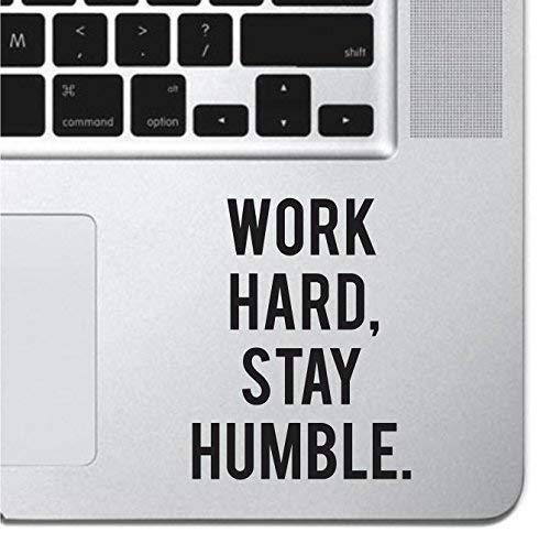 Work Hard Motivational Macbook Sticker Decal MacBook Pro Decal Air 13