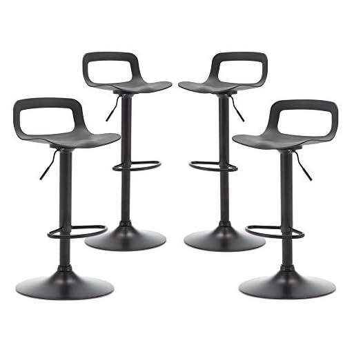 Kitchen THKSBOUGHT Set of 4 Modern Bar Stools Simple Adjustable Bar Stool(Matte Back) modern barstools