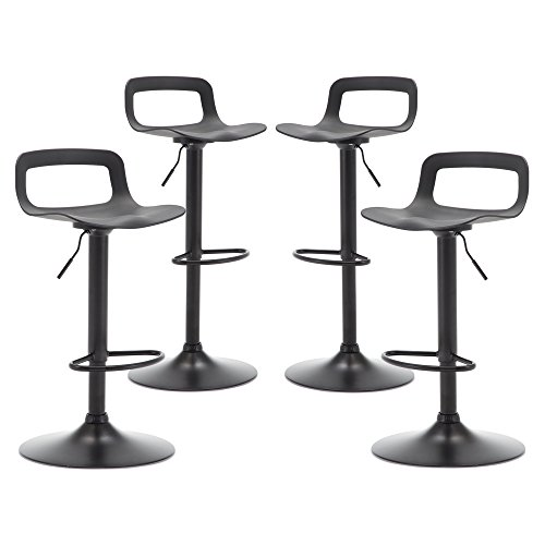 THKSBOUGHT Set of 4 Modern Bar Stools Simple Adjustable Bar Stool Matte Back