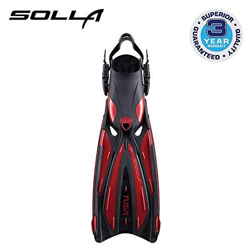TUSA SF-22 Solla Open Heel Scuba Diving Fins, Medium, Metallic Dark Red (Best Snorkeling In Roatan)