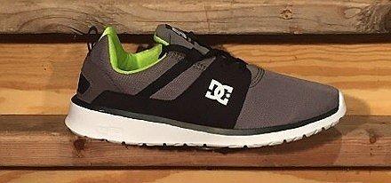 DC Heathrow Skate Shoe, Grey/Black/Green, 10 M US