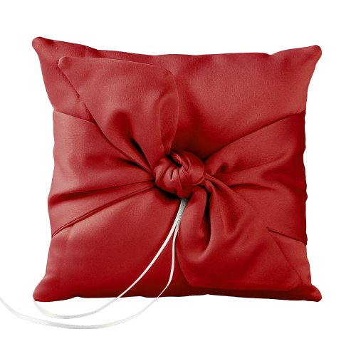 Ivy Lane Design Love Knot Ring Pillow, Claret