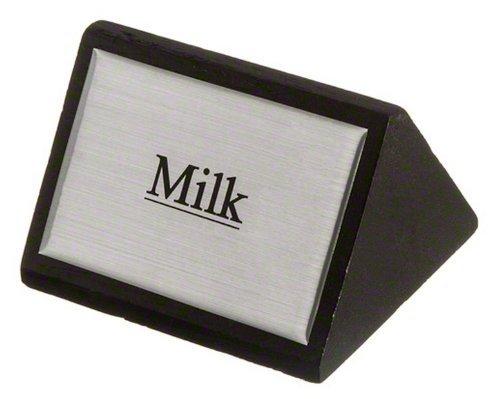 American Metalcraft SIGNM8 Black Wood Milk Tabletop Sign, 3 by 1-3/4-Inch by American Metalcraft