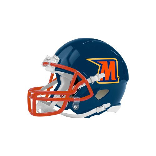 (CollegeFanGear Morgan State Riddell Replica Navy Mini Helmet 'M')