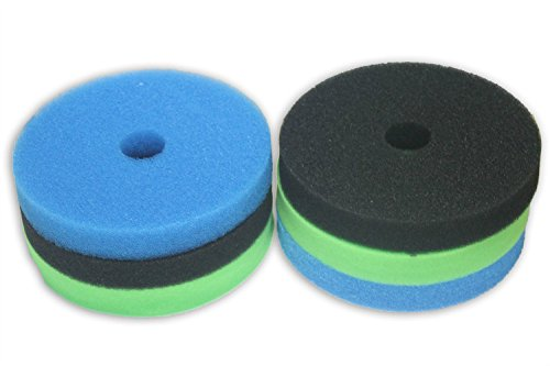 Pack of 2 LTWHOME Foam Sponge Filter Set Fits Hozelock Bioforce 9000   18000 Filter (Pack of 2 Set)