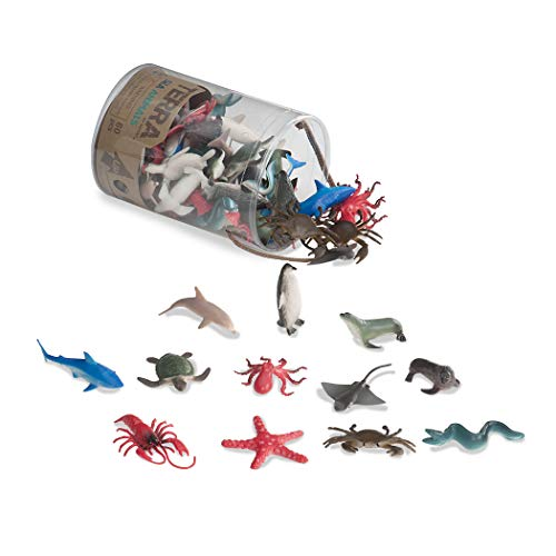 - Terra by Battat - Sea Animals - Assorted Miniature Sea Animals, Fish Toys, & Cake Toppers For Kids 3+ (60 Pc)