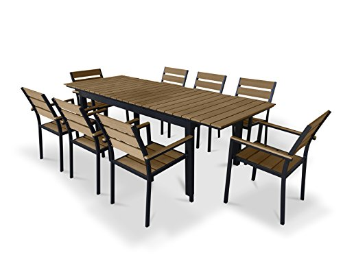 UrbanFurnishing net Eco Wood Extendable Outdoor Dining