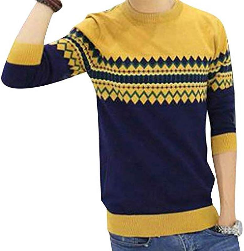 Męski sweter Vintage Biker Style Crew okrągły dekolt sweter dziergany na szyi prosty styl Basic Sweater długi rękaw sweter dziergany: Odzież