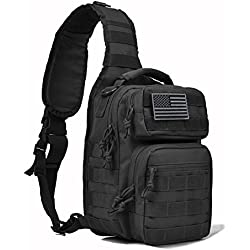 Walking Man Tactical Sling Bag Pack Military Shoulder Backpack Army Chest Bug Out Bag Fishing Backpack Small Range Bag Everyday Carry Diaper Bag Day Pack for Men&Women