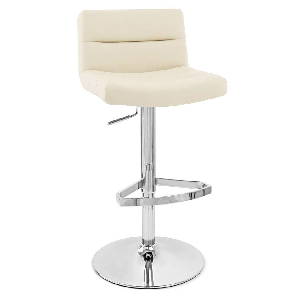 Zuri Furniture Cream Lattice Adjustable Height Swivel Armless Bar Stool by Zuri Furniture
