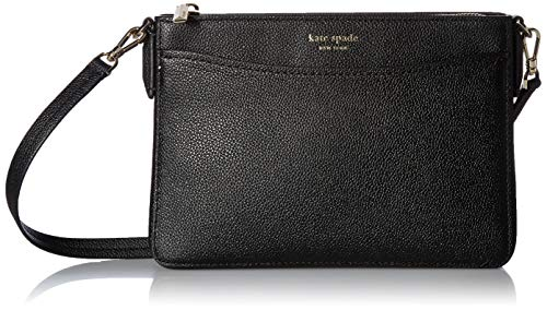 Kate Spade New York Women's Margaux Medium Convertible Crossbody Bag, Black, One Size (Convertible Leather Bag)