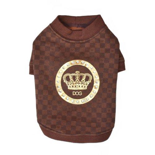 Medium Dogs of Glamour Luxe Stamp Shirt, Medium, Brown