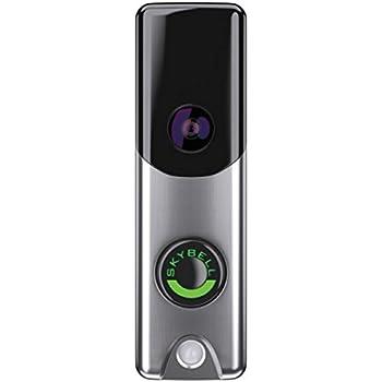 Amazon.com : Alarm.com Skybell Slimline Video Doorbell, Silver ...