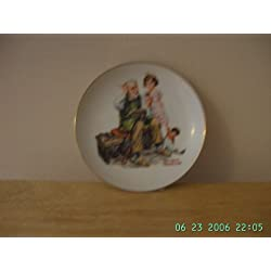 "COLLECTIBLE PLATE ""THE COBBLER"" BY NORMAN ROCKWELL 1984"