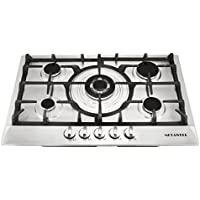 METAWELL 30 inch Stainless Steel 5 Burner Built-In Stoves NG LPG Gas Cooktop Cooker