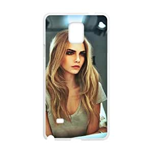 QSWHXN Cara Delevingne Phone Case For Samsung Galaxy note 4 [Pattern-5]