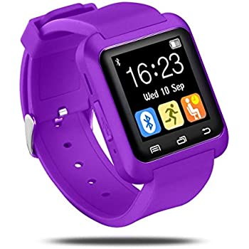 Colofan Smartwatch Luxury U8 Bluetooth Smart Watch WristWatch Phone with Camera Touch Screen for IOS Iphone Android Smartphone (purple)