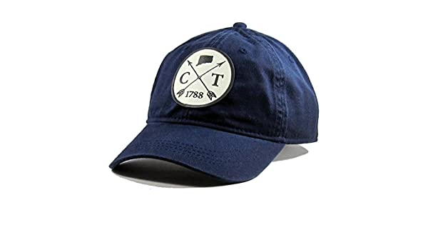 e58ffde88f1 Amazon.com  Homeland Tees Men s Connecticut Arrow Patch Cotton Twill Hat  Navy  Clothing