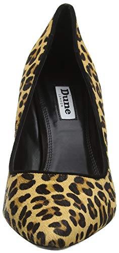 Bout Escarpins leather leopard Fermé Dune Angelle leather Leopard Femme Multicolore qEAw16