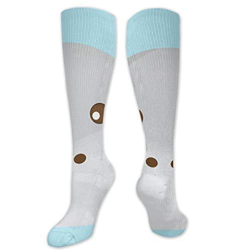 Stretch Socks Hippopotamus Face On Cloud Background Great Winter Warmth for Women & Men Travel]()