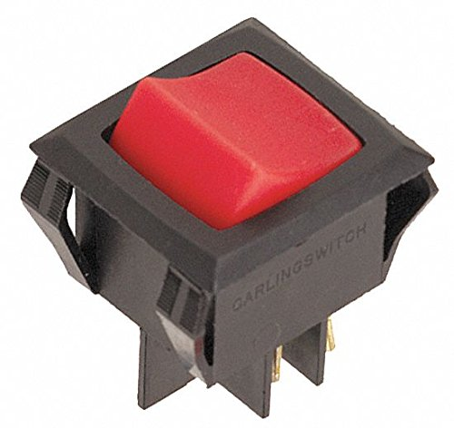 Lighted Rocker Switch, DPST, 4 Connections