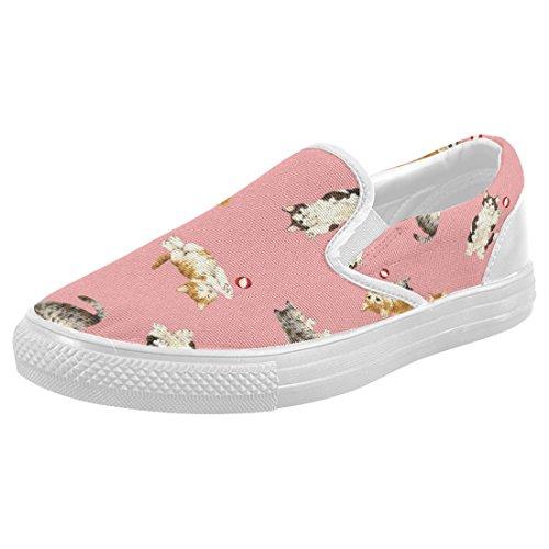 Mocassini Da Donna Di Interestprint Classico Su Tela Casual Slip On Fashion Shoes Sneakers Flats