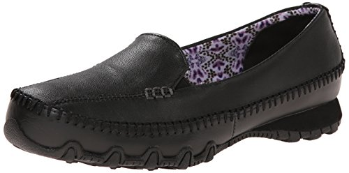 Pedestrian basso collo Scarpe Leather Black Donna Skechers a Bikers Pq5wBxxXv