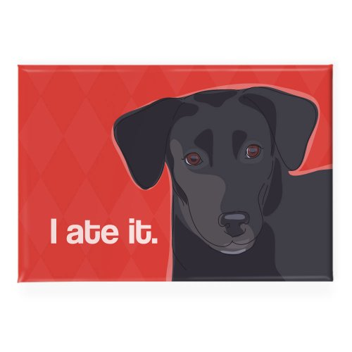 Pop Doggie I Ate it Black Lab Labrador Retriever Fridge Magnet