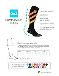 Go2 Compression Socks for Women and Men Athletic Running Socks for Nurses Medical Graduated Nursing Compression Socks for Travel Running Sports Socks!! (Red White & Blue Argyle, Small)